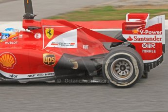 World © Octane Photographic Ltd. Formula 1 Winter testing, Barcelona – Circuit de Catalunya, 19th February 2013. Ferrari F138 – Fernando Alonso exhaust detail. Digital Ref: 0576cb7d8267