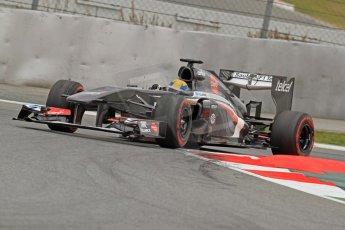 World © Octane Photographic Ltd. Formula 1 Winter testing, Barcelona – Circuit de Catalunya, 19th February 2013. Sauber C32, Esteban Gutierrez Digital Ref: 0576cb7d8324