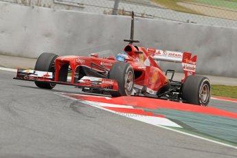 World © Octane Photographic Ltd. Formula 1 Winter testing, Barcelona – Circuit de Catalunya, 19th February 2013. Ferrari F138 – Fernando Alonso. Digital Ref: 0576cb7d8330