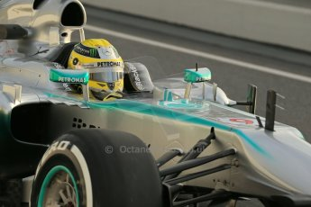 World © Octane Photographic Ltd. Formula 1 Winter testing, Barcelona – Circuit de Catalunya, 19th February 2013. Mercedes AMG Petronas  F1 W04 – Nico Rosberg. Digital Ref: 0576lw1d1165