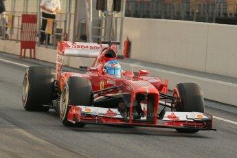 World © Octane Photographic Ltd. Formula 1 Winter testing, Barcelona – Circuit de Catalunya, 19th February 2013. Ferrari F138 – Fernando Alonso. Digital Ref: 0576lw1d1189