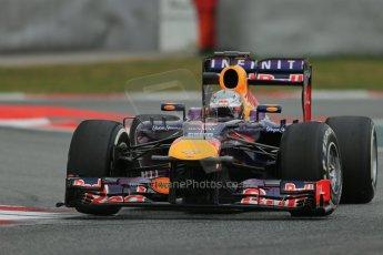 World © Octane Photographic Ltd. Formula 1 Winter testing, Barcelona – Circuit de Catalunya, 19th February 2013. Infiniti Red Bull Racing RB9. Sebastian Vettel. Digital Ref: 0576lw1d1721