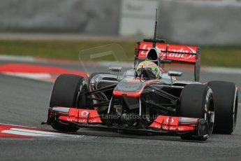World © Octane Photographic Ltd. Formula 1 Winter testing, Barcelona – Circuit de Catalunya, 19th February 2013. Vodafone McLaren Mercedes MP4/28. Sergio Perez. Digital Ref: 0576lw1d1749