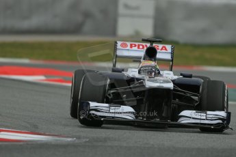 World © Octane Photographic Ltd. Formula 1 Winter testing, Barcelona – Circuit de Catalunya, 19th February 2013. Williams FW35, Pastor Maldonado. Digital Ref: 0576lw1d1756