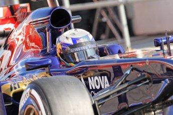 World © Octane Photographic Ltd. Formula 1 Winter testing, Barcelona – Circuit de Catalunya, 20th February 2013. Toro Rosso STR8, Daniel Ricciardo. Digital Ref: