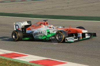 World © Octane Photographic Ltd. Formula 1 Winter testing, Barcelona – Circuit de Catalunya, 20th February 2013. Sahara Force India VJM06 – Paul di Resta. Digital Ref: