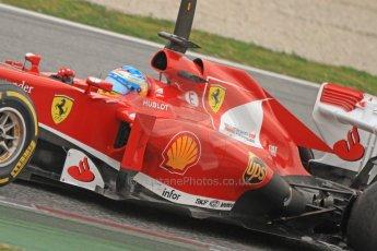 World © Octane Photographic Ltd. Formula 1 Winter testing, Barcelona – Circuit de Catalunya, 21st February 2013. Ferrari F138 - Fernando Alonso. Digital Ref: 0578cb7d2627