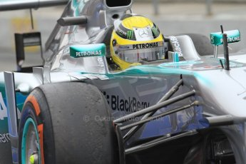 World © Octane Photographic Ltd. Formula 1 Winter testing, Barcelona – Circuit de Catalunya, 21st February 2013. Mercedes AMG Petronas F1 W04, Nico Rosberg. Digital Ref: 0578cb7d8859