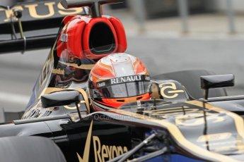 World © Octane Photographic Ltd. Formula 1 Winter testing, Barcelona – Circuit de Catalunya, 21st February 2013. Lotus E31, Romain Grosjean. Digital Ref: 0578cb7d8905