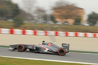 World © Octane Photographic Ltd. Formula 1 Winter testing, Barcelona – Circuit de Catalunya, 21st February 2013. Sauber C32, Nico Hulkenberg. Digital Ref: 0578cb7d9042