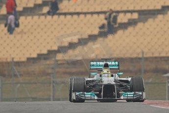 World © Octane Photographic Ltd. Formula 1 Winter testing, Barcelona – Circuit de Catalunya, 21st February 2013. Mercedes AMG Petronas F1 W04, Nico Rosberg. Digital Ref: 0578cb7d9097