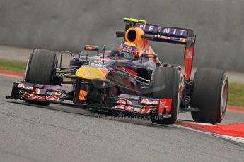 World © Octane Photographic Ltd. Formula 1 Winter testing, Barcelona – Circuit de Catalunya, 21st February 2013. Infiniti Red Bull Racing RB9, Mark Webber. Digital Ref: 0578cb7d9132