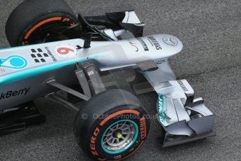 World © Octane Photographic Ltd. Formula 1 Winter testing, Barcelona – Circuit de Catalunya, 21st February 2013. Mercedes AMG Petronas F1 W04, Nico Rosberg. Digital Ref: 0578lw1d2817