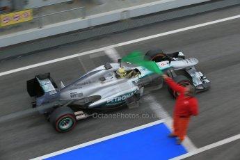 World © Octane Photographic Ltd. Formula 1 Winter testing, Barcelona – Circuit de Catalunya, 21st February 2013. Mercedes AMG Petronas F1 W04, Nico Rosberg. Digital Ref: 0578lw1d2820
