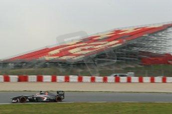World © Octane Photographic Ltd. Formula 1 Winter testing, Barcelona – Circuit de Catalunya, 21st February 2013. Sauber C32, Nico Hulkenberg. Digital Ref: 0578lw1d3527