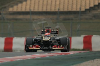World © Octane Photographic Ltd. Formula 1 Winter testing, Barcelona – Circuit de Catalunya, 21st February 2013. Lotus E31, Romain Grosjean. Digital Ref: 0578lw1d3700