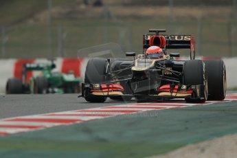World © Octane Photographic Ltd. Formula 1 Winter testing, Barcelona – Circuit de Catalunya, 21st February 2013. Lotus E31, Romain Grosjean. Digital Ref: 0578lw1d3704
