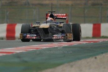 World © Octane Photographic Ltd. Formula 1 Winter testing, Barcelona – Circuit de Catalunya, 21st February 2013. Toro Rosso STR8, Jean-Eric Vergne. Digital Ref: 0578lw1d3722