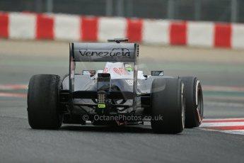 World © Octane Photographic Ltd. Formula 1 Winter testing, Barcelona – Circuit de Catalunya, 21st February 2013, morning sessions. Williams FW35, Pastor Maldonado. Digital Ref: 0578lw1d3753