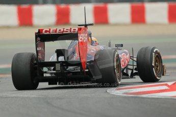 World © Octane Photographic Ltd. Formula 1 Winter testing, Barcelona – Circuit de Catalunya, 21st February 2013. Toro Rosso STR8, Jean-Eric Vergne. Digital Ref: 0578lw1d3971