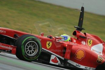 World © Octane Photographic Ltd. Formula 1 Winter testing, Barcelona – Circuit de Catalunya, 22nd February 2013. Ferrari F138 – Felipe Massa. Digital Ref: 0579cb1d4436