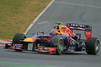 World © Octane Photographic Ltd. Formula 1 Winter testing, Barcelona – Circuit de Catalunya, 22nd February 2013. Infiniti Red Bull Racing RB9, Mark Webber. Digital Ref: 0579cb1d4489
