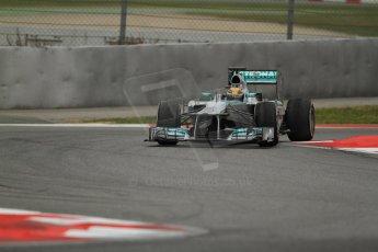 World © Octane Photographic Ltd. Formula 1 Winter testing, Barcelona – Circuit de Catalunya, 22nd February 2013. Mercedes AMG Petronas F1 W04, Lewis Hamilton. Digital Ref: 0579cb7d9580