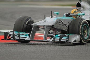 World © Octane Photographic Ltd. Formula 1 Winter testing, Barcelona – Circuit de Catalunya, 22nd February 2013. Mercedes AMG Petronas F1 W04, Lewis Hamilton. Digital Ref: 0579cb7d9607
