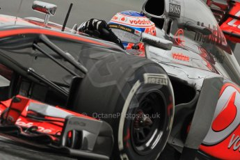 World © Octane Photographic Ltd. Formula 1 Winter testing, Barcelona – Circuit de Catalunya, 22nd February 2013. Vodafone McLaren Mercedes MP4/28. Jenson Button. Digital Ref: 0579cb7d9625
