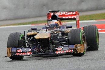 World © Octane Photographic Ltd. Formula 1 Winter testing, Barcelona – Circuit de Catalunya, 22nd February 2013. Toro Rosso STR8, Jean-Eric Vergne. Digital Ref: 0579cb7d9911