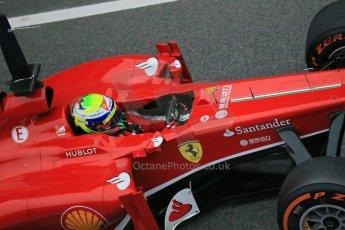 World © Octane Photographic Ltd. Formula 1 Winter testing, Barcelona – Circuit de Catalunya, 22nd February 2013. Ferrari F138 – Felipe Massa. Digital Ref: 0579lw1d4119
