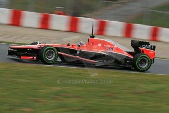 World © Octane Photographic Ltd. Formula 1 Winter testing, Barcelona – Circuit de Catalunya, 22nd February 2013. Marussia MR02, Max Chilton. Digital Ref: 0579lw1d4612