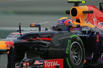 World © Octane Photographic Ltd. Formula 1 Winter testing, Barcelona – Circuit de Catalunya, 22nd February 2013. Infiniti Red Bull Racing RB9, Mark Webber. Digital Ref: 0579lw1d4696