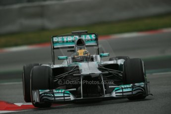World © Octane Photographic Ltd. Formula 1 Winter testing, Barcelona – Circuit de Catalunya, 22nd February 2013. Mercedes AMG Petronas F1 W04, Lewis Hamilton. Digital Ref: 0579lw1d4876
