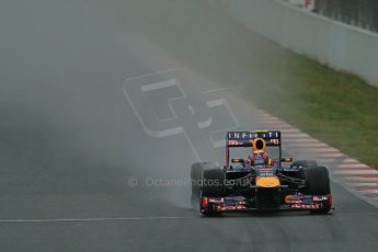 World © Octane Photographic Ltd. Formula 1 Winter testing, Barcelona – Circuit de Catalunya, 22nd February 2013. Infiniti Red Bull Racing RB9, Mark Webber. Digital Ref: 0579lw1d5152
