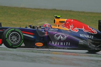 World © Octane Photographic Ltd. Formula 1 Winter testing, Barcelona – Circuit de Catalunya, 22nd February 2013. Infiniti Red Bull Racing RB9, Mark Webber. Digital Ref: 0579lw1d5286
