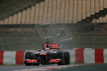 World © Octane Photographic Ltd. Formula 1 Winter testing, Barcelona – Circuit de Catalunya, 22nd February 2013. Vodafone McLaren Mercedes MP4/28. Jenson Button. Digital Ref: 0579lw1d5445
