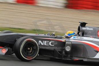 World © Octane Photographic Ltd. Formula 1 Winter testing, Barcelona – Circuit de Catalunya, 22nd February 2013. Sauber C32, Esteban Gutierrez. Digital Ref: 0579lw7d9367