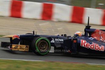 World © Octane Photographic Ltd. Formula 1 Winter testing, Barcelona – Circuit de Catalunya, 22nd February 2013. Toro Rosso STR8, Jean-Eric Vergne. Digital Ref: 0579lw7d9401
