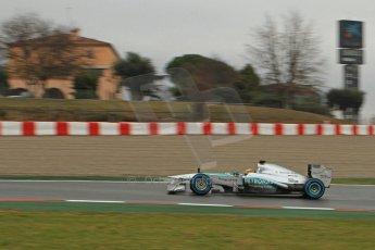 World © Octane Photographic Ltd. Formula 1 Winter testing, Barcelona – Circuit de Catalunya, 22nd February 2013. Mercedes AMG Petronas F1 W04, Lewis Hamilton. Digital Ref: 0579lw7d9756