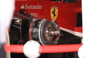 World © Octane Photographic Ltd. F1 Monaco - Monte Carlo - Pitlane. Scuderia Ferrari F138 front brake assembly. Friday 24th May 2013. Digital Ref : 0695cb7d1510