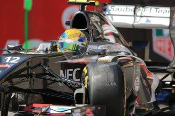 World © Octane Photographic Ltd. F1 Monaco GP, Monte Carlo - Saturday 25th May - Practice 3. Sauber C32 - Esteban Gutierrez. Digital Ref : 0707lw1d9436