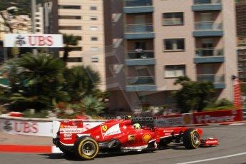 World © Octane Photographic Ltd. F1 Monaco GP, Monte Carlo - Saturday 25th May - Practice 3. Scuderia Ferrari F138 - Felipe Massa. Digital Ref : 0707lw7d8285