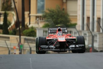 World © Octane Photographic Ltd. F1 Monaco GP, Monte Carlo - Saturday 25th May - Qualifying. Marussia F1 Team MR02 - Max Chilton. Digital Ref : 0708lw1d9688
