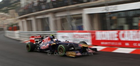 World © Octane Photographic Ltd. F1 Monaco GP, Monte Carlo - Saturday 25th May - Qualifying. Scuderia Toro Rosso STR 8 - Daniel Ricciardo. Digital Ref : 0708lw7d8595