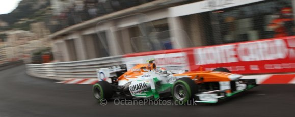 World © Octane Photographic Ltd. F1 Monaco GP, Monte Carlo - Saturday 25th May - Qualifying. Sahara Force India VJM06 - Adrian Sutil. Digital Ref : 0708lw7d8634