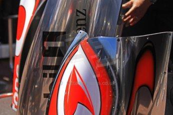 World © 2013 Octane Photographic Ltd. F1 Monaco GP, Monte Carlo - Thursday 23rd May 2013 - Practice 1. Vodafone McLaren Mercedes MP4/28 body work . Digital Ref : 0692cb7d0791
