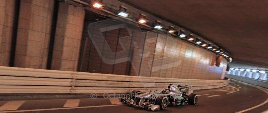 World © 2013 Octane Photographic Ltd. F1 Monaco GP, Monte Carlo -Thursday 23rd May 2013 - Practice 1. Mercedes – Lewis Hamilton. Digital Ref : 0692lw1d6889