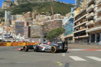 World © 2013 Octane Photographic Ltd. F1 Monaco GP, Monte Carlo -Thursday 23rd May 2013 - Practice 1. Sauber C32 - Nico Hulkenberg. Digital Ref : 0692lw1d6967