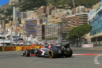World © 2013 Octane Photographic Ltd. F1 Monaco GP, Monte Carlo -Thursday 23rd May 2013 - Practice 1. Sauber C32 - Nico Hulkenberg. Digital Ref : 0692lw1d7090
